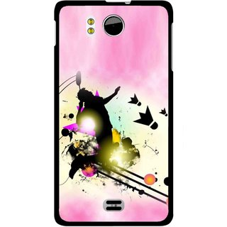 huge discount 8c1b0 6e85e Snooky Printed Flying Man Mobile Back Cover For Micromax Canvas DOODLE A111  - Multicolour
