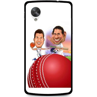 Snooky Printed Play Cricket Mobile Back Cover For Lg Google Nexus 5 - Multi