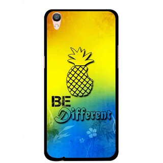 Snooky Printed Be Different Mobile Back Cover For Oppo F1 Plus - Multi