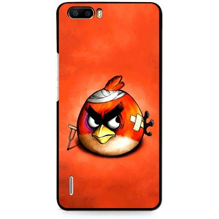 Snooky Printed Wouded Bird Mobile Back Cover For Huawei Honor 6 Plus - Multi