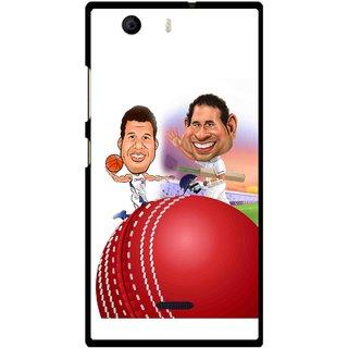 Snooky Printed Play Cricket Mobile Back Cover For Micromax Canvas Nitro 2 E311 - Multi