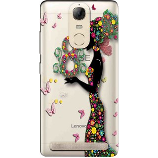 Snooky Printed Green Lady Mobile Back Cover of Lenovo Vibe K5 Note - Multicolour