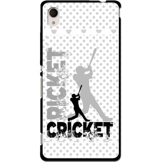 Snooky Printed Cricket Mobile Back Cover For Sony Xperia M4 - Multi