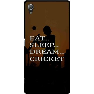 Snooky Printed All Is Cricket Mobile Back Cover For Sony Xperia Z3 Plus - Multi