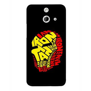 Snooky Printed I am Man Mobile Back Cover For HTC One E8 - Multicolour