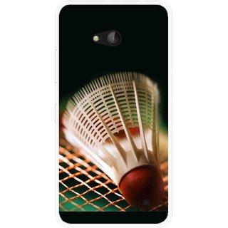 Snooky Printed Badminton Mobile Back Cover For Nokia Lumia 640 - Multicolour
