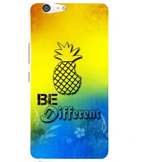 Snooky Printed Be Different Mobile Back Cover For Gionee Marathon M5 - Multi