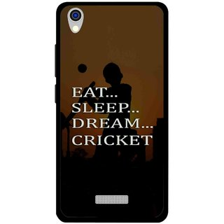 Snooky Printed All Is Cricket Mobile Back Cover For Lava Iris X9 - Multi