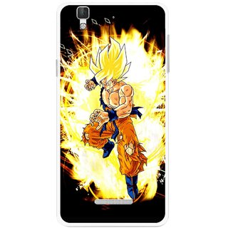 Snooky Printed Angry Man Mobile Back Cover For Micromax Yu Yureka Plus - Multi