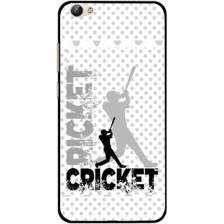 Snooky Printed Cricket Mobile Back Cover For Vivo Y66 - Multi