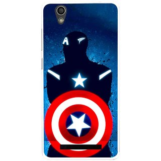 Snooky Printed America Sheild Mobile Back Cover For Gionee F103 - Multi