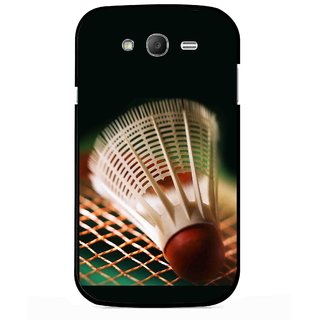 Snooky Printed Badminton Mobile Back Cover For Samsung Galaxy Grand I9082 - Multicolour