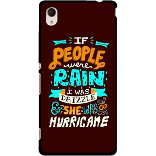 Snooky Printed Monsoon Mobile Back Cover For Sony Xperia M4 - Multi