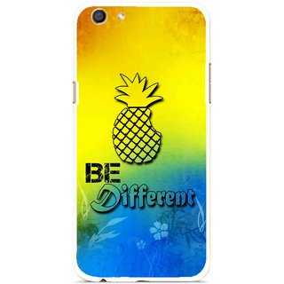 Snooky Printed Be Different Mobile Back Cover For Oppo F3 - Multi
