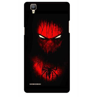 Snooky Printed Spider Eye Mobile Back Cover For Oppo F1 - Multi