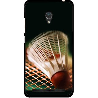 Snooky Printed Badminton Mobile Back Cover For Asus Zenfone 5 - Multicolour