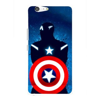 Snooky Printed America Sheild Mobile Back Cover For Gionee Marathon M5 - Multi