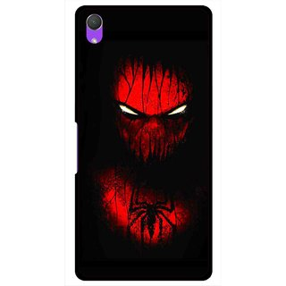 Snooky Printed Spider Eye Mobile Back Cover For Sony Xperia Z2 - Multi