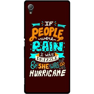 Snooky Printed Monsoon Mobile Back Cover For Sony Xperia Z3 Plus - Multi