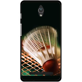 Snooky Printed Badminton Mobile Back Cover For Asus Zenfone C - Multicolour