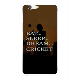 Snooky Printed All Is Cricket Mobile Back Cover For Gionee Marathon M5 - Multi