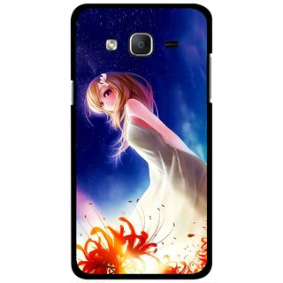 Snooky Printed Angel Girl Mobile Back Cover For Samsung Galaxy On7 - Multicolour