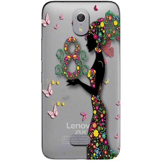 Snooky Printed Green Lady Mobile Back Cover of Lenovo Zuk Z1 - Multicolour
