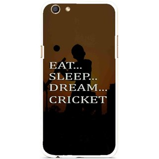 Snooky Printed All Is Cricket Mobile Back Cover For Oppo F3 - Multi