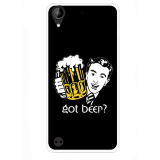 Snooky Printed Got Beer Mobile Back Cover For HTC Desire 630 - Multi