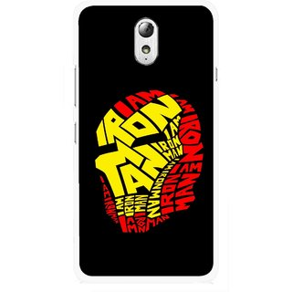 Snooky Printed I am Man Mobile Back Cover For Lenovo Vibe P1M - Multicolour