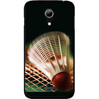 Snooky Printed Badminton Mobile Back Cover For Micromax A114 - Multicolour