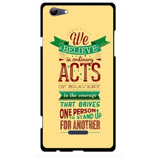 Snooky Printed Bravery Mobile Back Cover For Micromax Canvas Selfie 3 Q348 - Multi
