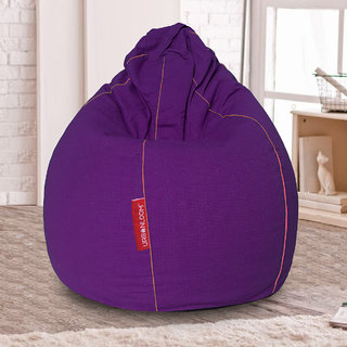 Viola Organic cotton XXXL Khadi Bean bag cover without beans by Urbanloom (Colour - Purple)
