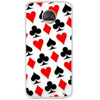 Snooky Printed Playing Cards Mobile Back Cover For Motorola Moto Z2 Play - Multicolour