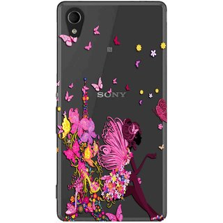 Snooky Printed Butterfly Mobile Back Cover of Sony Xperia M4 - Multicolour