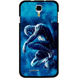 Snooky Printed Blue Hero Mobile Back Cover For Micromax Canvas Juice A177 - Multicolour