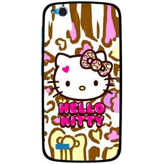 Snooky Printed Cute Kitty Mobile Back Cover For Gionee Elife E3 - Multi