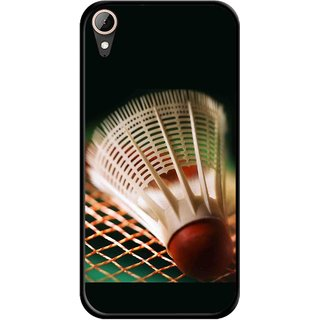 Snooky Printed Badminton Mobile Back Cover For HTC Desire 830 - Multi