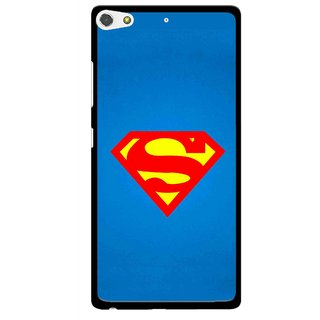 Snooky Printed Super Logo Mobile Back Cover For Gionee Elife S7 - Multi