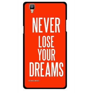 Snooky Printed Never Loose Mobile Back Cover For Oppo F1 - Multi
