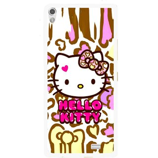 Snooky Printed Cute Kitty Mobile Back Cover For Gionee Elife S5.1 - Multi