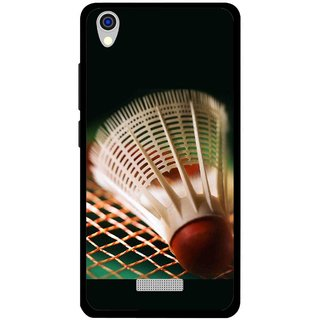 Snooky Printed Badminton Mobile Back Cover For Lava Iris X9 - Multi