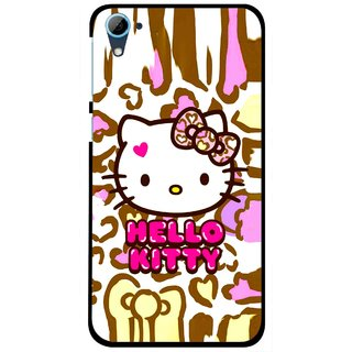 Snooky Printed Cute Kitty Mobile Back Cover For HTC Desire 826 - Multi