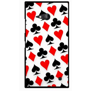 Snooky Printed Playing Cards Mobile Back Cover For Nokia Lumia 730 - Multicolour