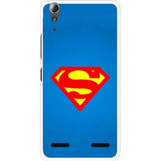 Snooky Printed Super Logo Mobile Back Cover For Lenovo A6000 Plus - Multi