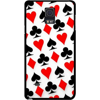 Snooky Printed Playing Cards Mobile Back Cover For Samsung Galaxy Note 4 - Multicolour
