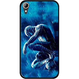 Snooky Printed Blue Hero Mobile Back Cover For HTC Desire 830 - Multi