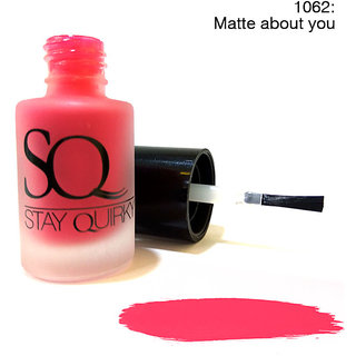 Stay Quirky Nail Polish Matte Effect Pink Matte about you 1062 (6 ml)