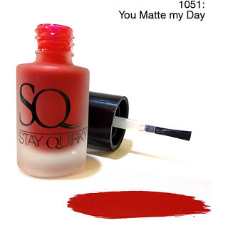 Stay Quirky Nail Polish Matte Red You Matte my Day 1051 (6 ml)
