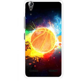 Snooky Printed Paint Globe Mobile Back Cover For Lenovo A6000 Plus - Multi